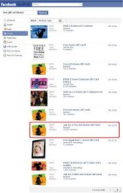 screenshot of facebook groups offering free itunes gift card