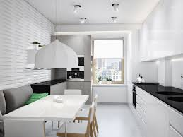White Kitchen Modern Black White Kitchen Diner Interior Design Ideas