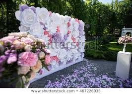 Paper Flower Wedding Decorations Paper Flowers Wedding Decor Luxury Wedding Stock Photo Edit Now