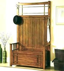 wood hall tree storage bench plans rustic barnwood coat rack