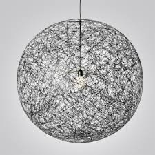 linen wire globe pendant in country style 1light black colored sphere pendant light c22