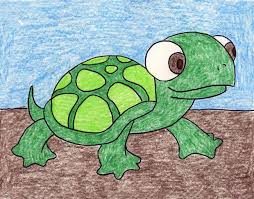 Small Picture Cartoon Turtle Drawing With Color Image Gallery HCPR