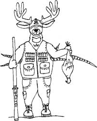 Small Picture Deer Hunting Coloring Pages with regard to Really encourage in