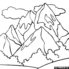 Small Picture Mountain coloring page color a snowy mountain