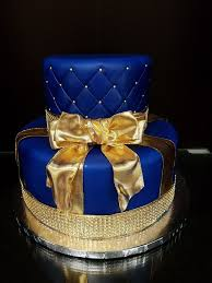 Royal Blue And Gold Baby Shower Cake Baby Shower Cakes Baby