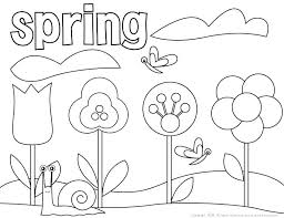 Coloring Pages For Spring Flowers Spring Garden Coloring Pages