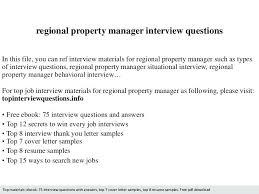 Regional Property Manager Job Description Assistant Regional ...