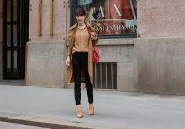 must follow slovenian fashion blogger veronika lipar of brunette from wall street wearing camel burberry trench