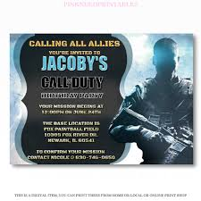 Online Printable Birthday Party Invitations Call Of Duty Invitation Cod Birthday Party Invite Videogame Invite Editable Printable