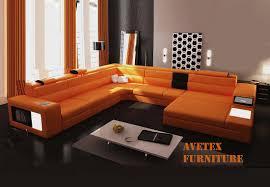 Orange Couch Living Room Orange Couch Rexona Orange Leather Sofa Sectionals L I V I N
