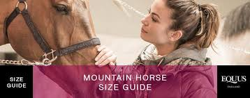 Mountain Horse Size Guide Equus