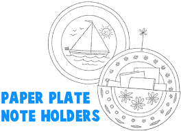 paper plate note receipt holders