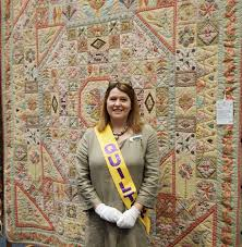 Patchwork On Stonleigh: Sydney quilt show, Karen Cunningham with ... & Patchwork On Stonleigh: Sydney quilt show, Karen Cunningham with her own  quilt Adamdwight.com