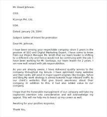 Letter Of Intent For Job Sample Letters Of Intent For Job Promotion