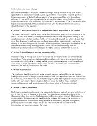 extended essay example Extended Essay Outline Template Ib Extended Essay