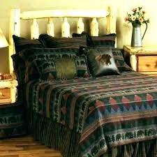 rustic cabin bed sheets bedding sets western log lodge style quilts quilt patterns canada lodge bedding sets