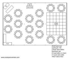 Tent Seating Chart 40 X 60 Tent Layout 3 Seating In 2019 Backyard Tent