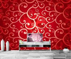 custom papel de parede red texture tracery wallpapersliving room texture for living room wall