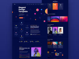 What Is A Design Template Elegant Design Template Landing Page Dark Ui By Shahriar