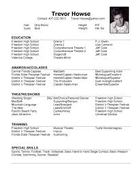 Dance Resumes Template Inspiration Model Resume Template Pelosleclaire