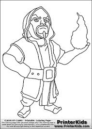 Clash Of Clans Wizard Coloring Page Kleurplaten Kleurplaten