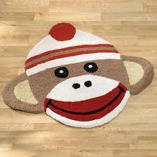 sock monkey rug spilsbury