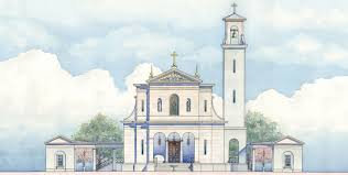 saint mary help of christians church mccrery architects elevation of the west front