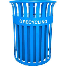 outdoor recycling containers classic recycling receptacle