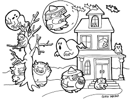 Small Picture Halloween Cat Coloring Pages For Printables Free At glumme