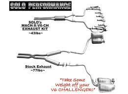 mach x v6 ch exhaust system2009 2014 dodge challenger solo challenger performance exhaust systems