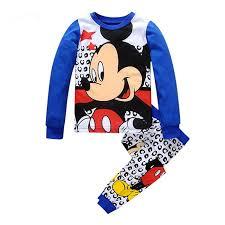 Детская Микки и Минни Маус теплые хлопковые <b>пижамы</b> ...