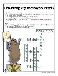 Day Light Crossword Groundhog Day Crossword Answers Woo Jr Kids Activities