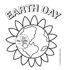 Earth Day Flower Coloring Pages For Kids Printable Free Coloing