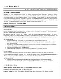 Resume Examples For Nursing Sampleresumeformats234