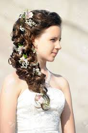 Wedding Hair Style Picture girl with a wedding hairstyle stock photo picture and royalty 6892 by wearticles.com