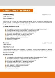 Australia Resume Template Resume Builder
