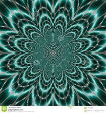 Bright Vibrant Mandala Flower Of Life On Dark Teal