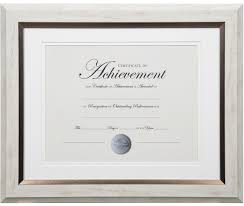 white certificate frame dax two tone document frame 11 x 14 inches white with bronze
