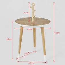 haotian round wooden side table tea coffee table console table end table with