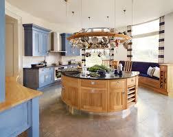 Kitchen:Blue White Kitchen Design Ideas Natural Wood Round Unique Kitchen  Islands With Shelve Light