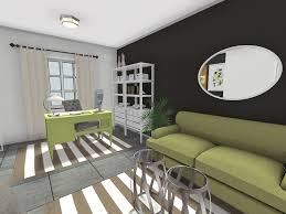 office living room ideas. RoomSketcher-Home-Office-Desk-in-Living-Room Office Living Room Ideas