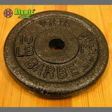 york barbell. york barbell 10 pound standard iron plates (set of 4)