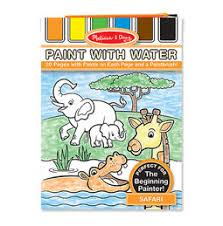 Safari Paint With Water Kids Art Pad