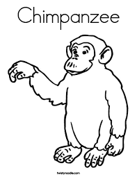 Small Picture Free Printable Chimpanzee Coloring Pages For Kids