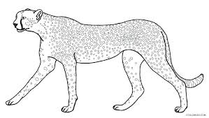 Free Online Cheetah Coloring Pages Cheetah Coloring Pages Free