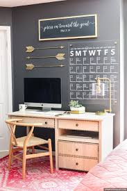 home office wall. Dress Up Your Home Office And Learn How To Make A Stylish DIY Acrylic Calendar With Wall
