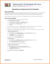 4+ Standard Service Level Agreement Template | Purchase Agreement ...