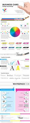 Business Card Design Psychology Infographic Design
