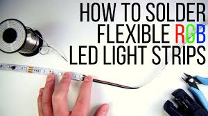 Can You Connect Led Light Strips Together How To Solder Flexible Rgb Led Light Strips