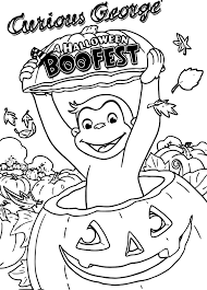Curious George Halloween Coloring Pages Curious George Halloween